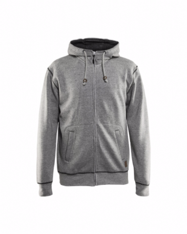 Blaklader 3398 Hoodie With Full Zip (Grey Melange)